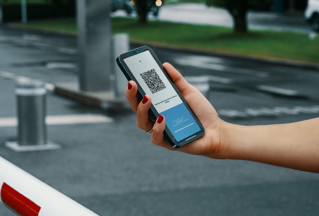 Application smartphone parking
